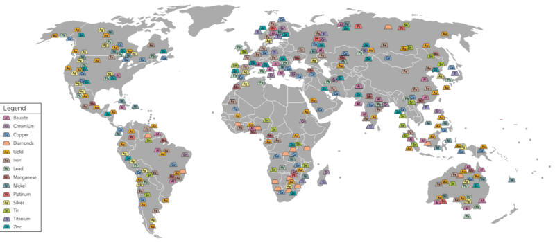 World Mining Map